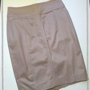Ann Taylor NWT Astor Pencil Skirt Size 2 Tan